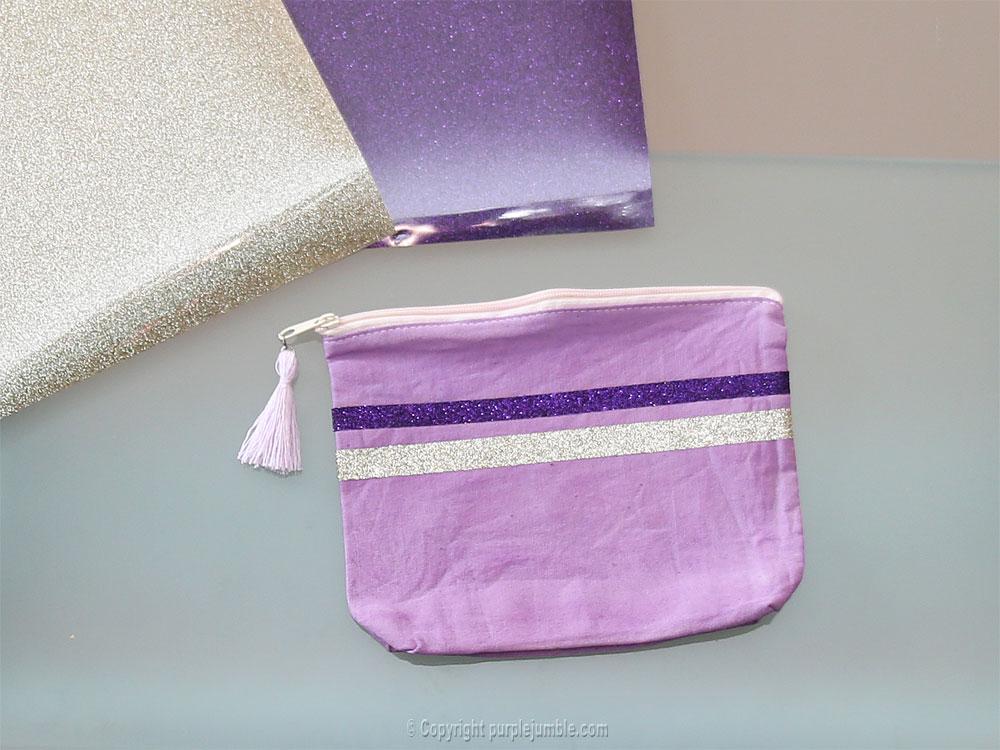 diy pochette teinture textile coloria paillettes