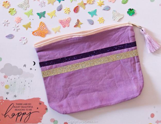 diy pochette teinture textile coloria finie