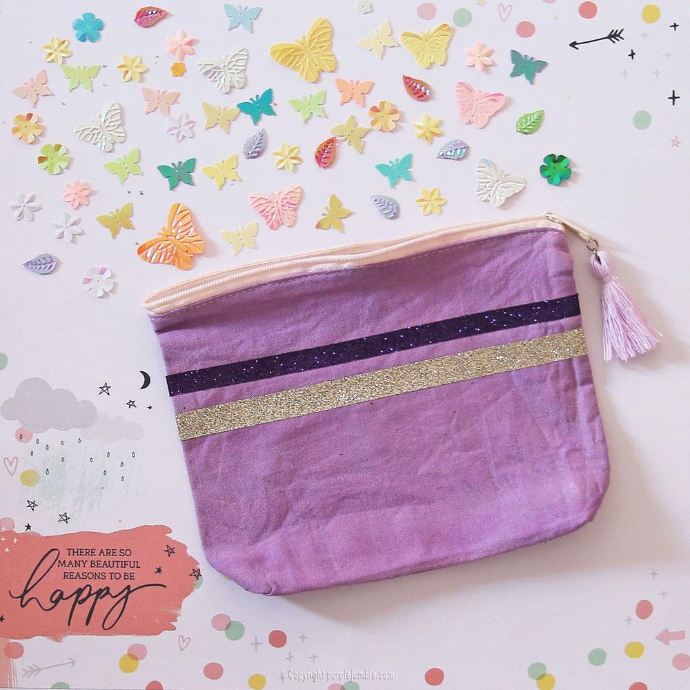diy pochette teinture textile coloria sequins