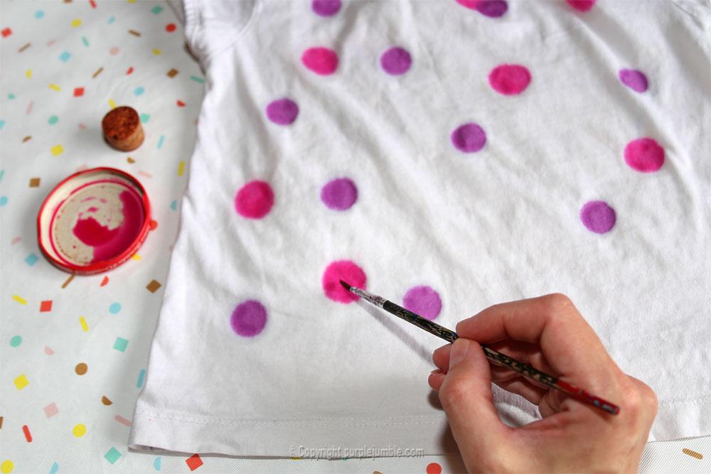 diy teinture textile coloria pinceau