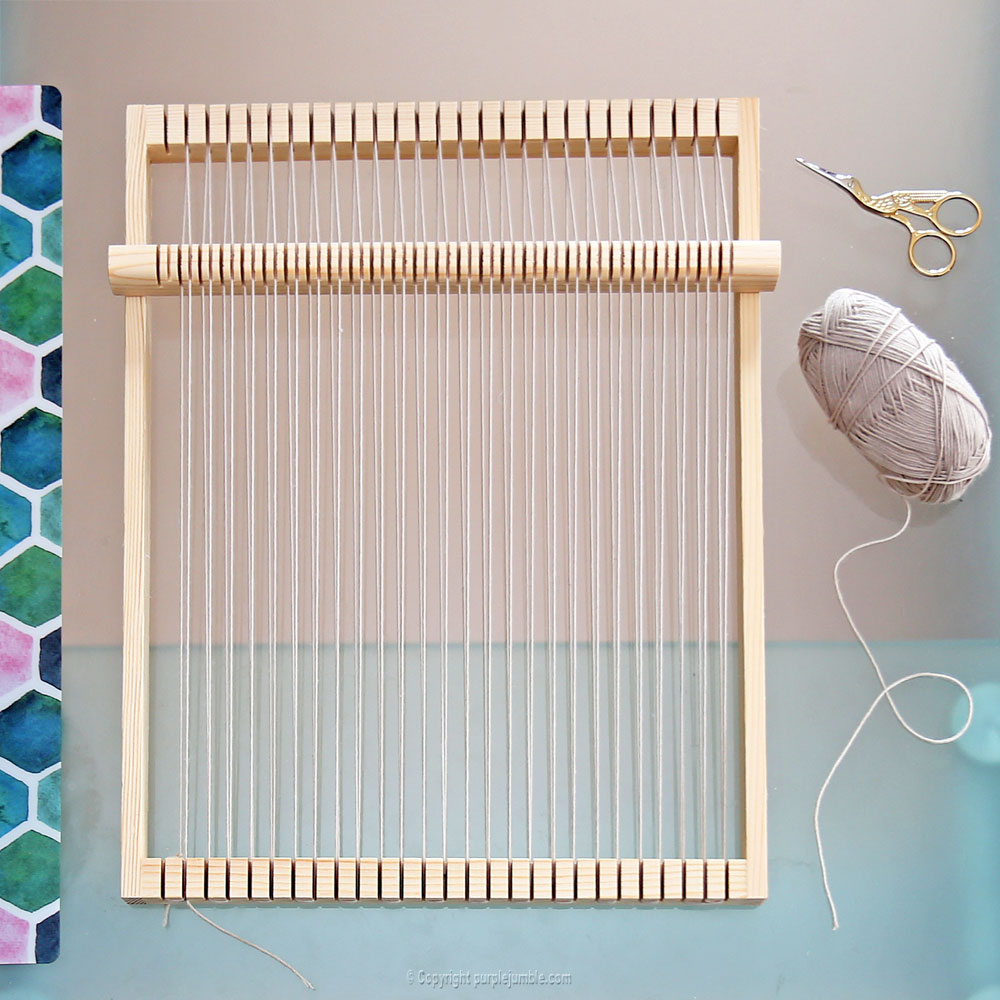 diy tissage mural fil