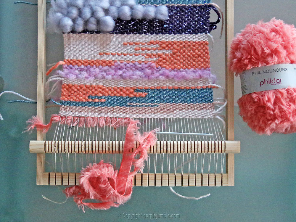 diy tissage mural franges