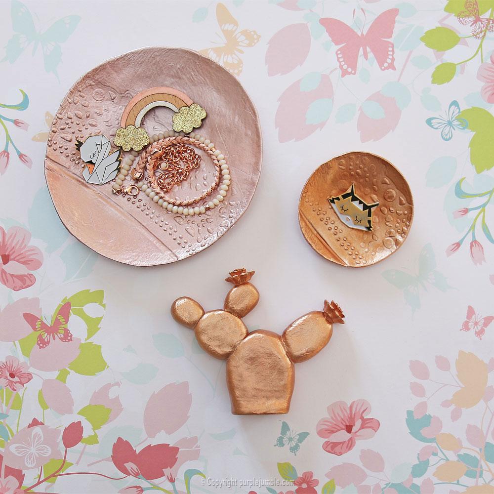 diy coupelles peinture metallisée edding bijoux