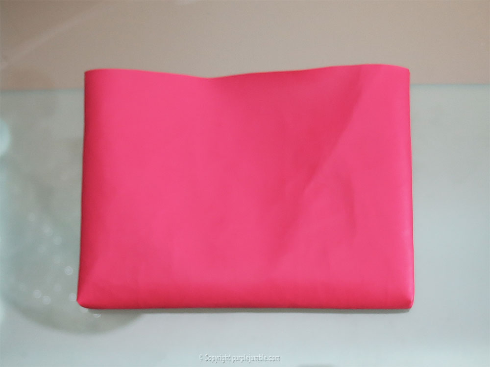 diy pochette simili cuir prune