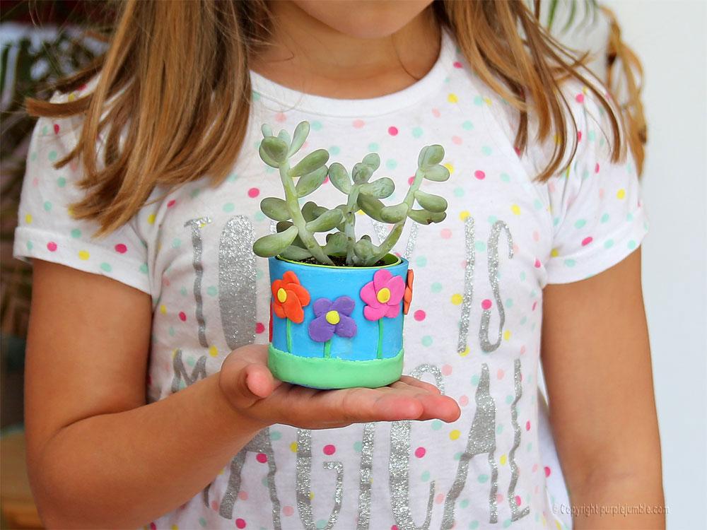 pot pâte à modeler das junior plante