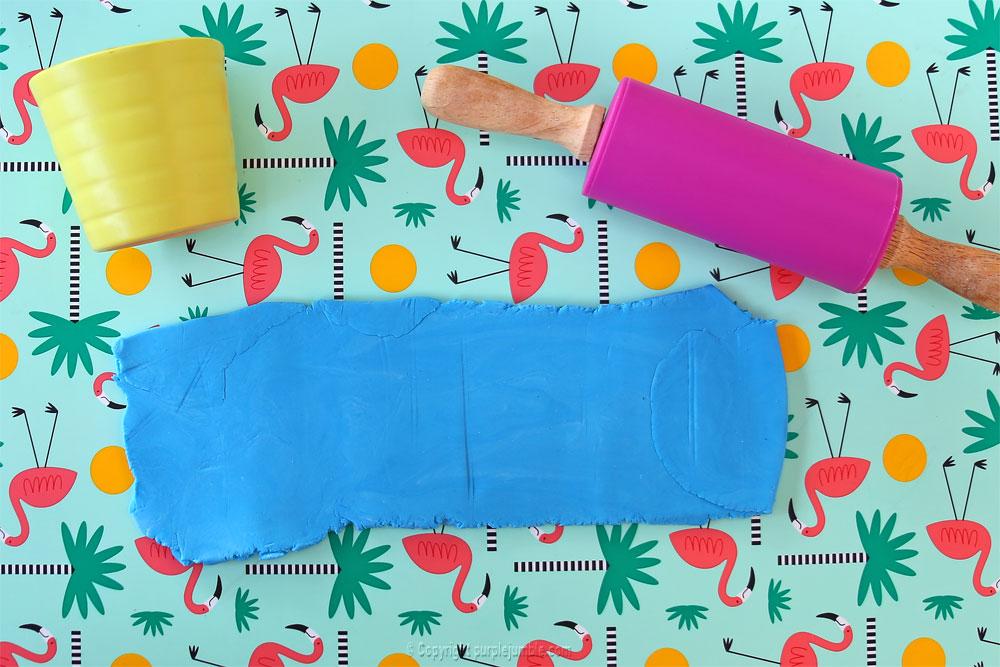 pot pâte à modeler das junior matériel bleu