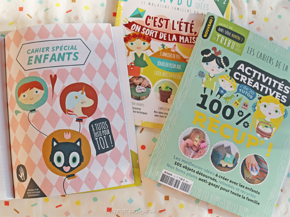 article magazine LTDI diy enfants cahier