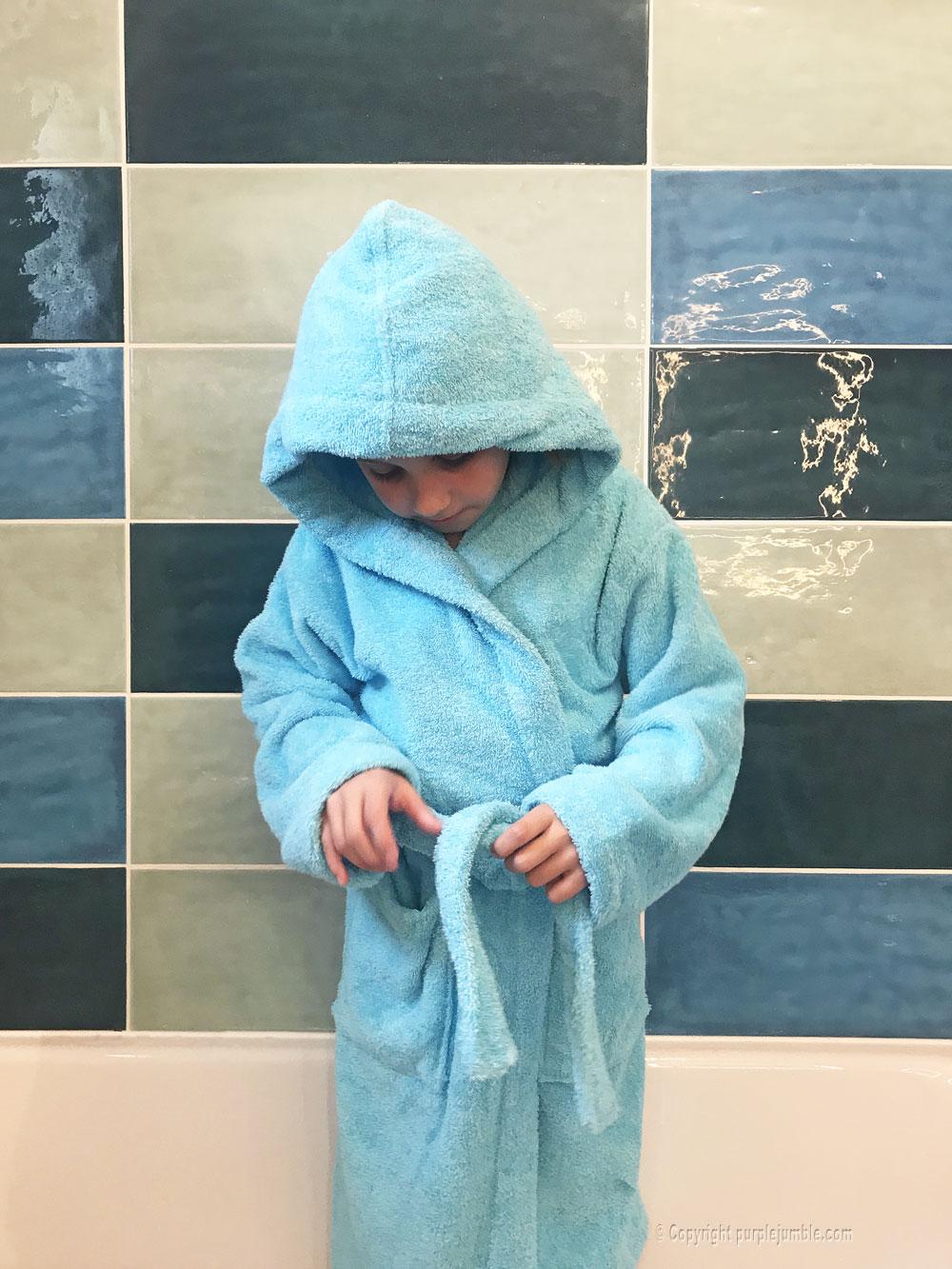 compagnie du blanc peignoir personnalisé enfant porté