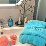 compagnie du blanc peignoir personnalisé enfant salle de bain