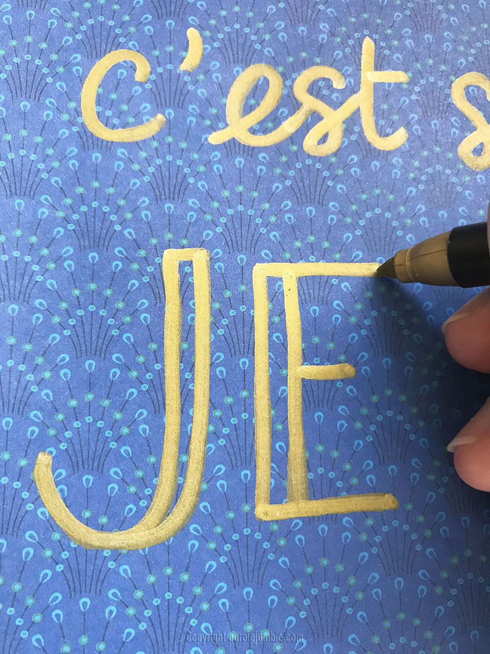 diy affiche calligraphie aimer écriture