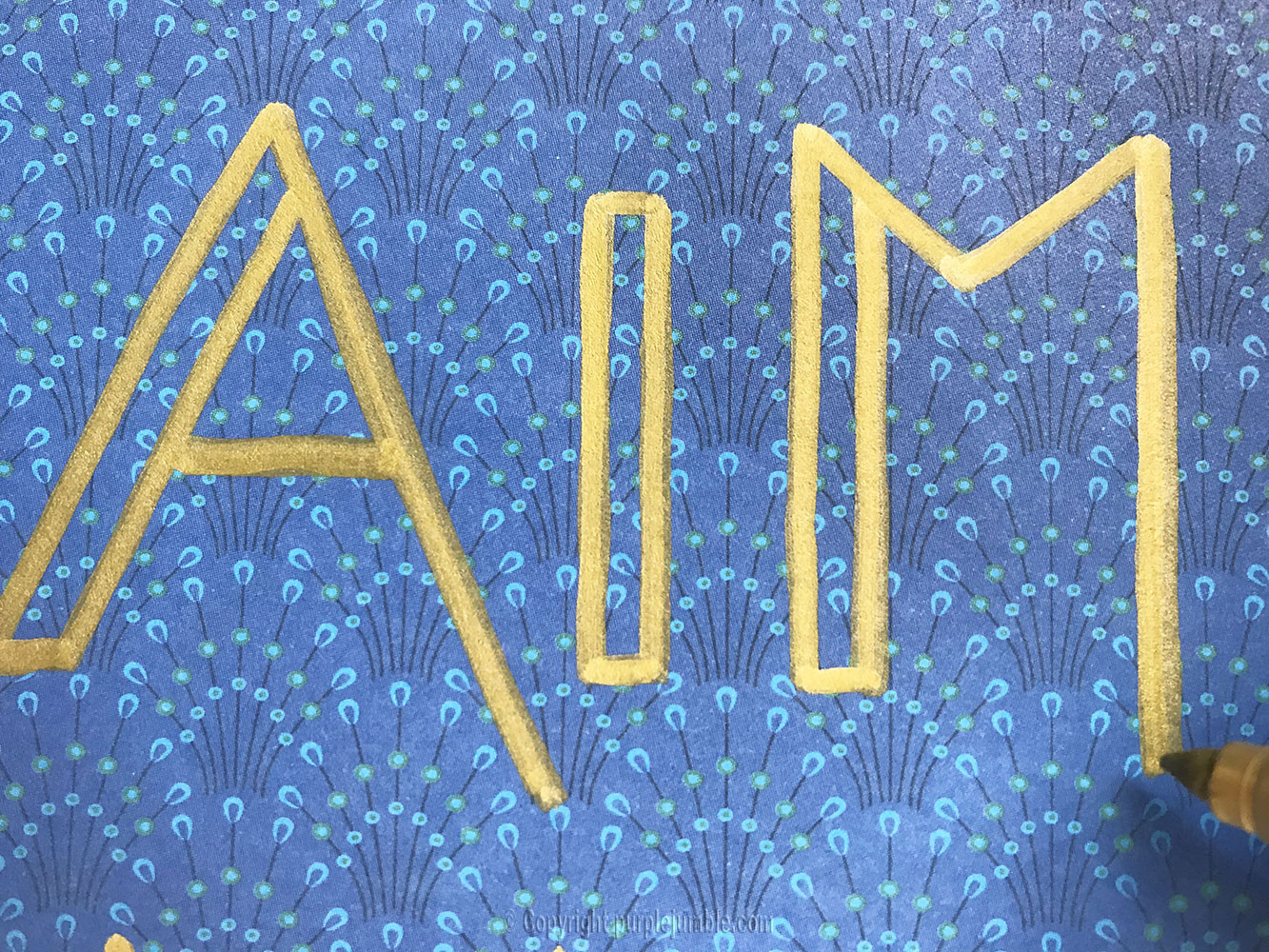 diy affiche calligraphie aimer police