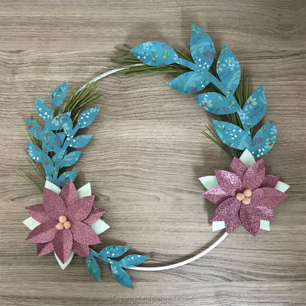 diy couronne de noel girly assemblage