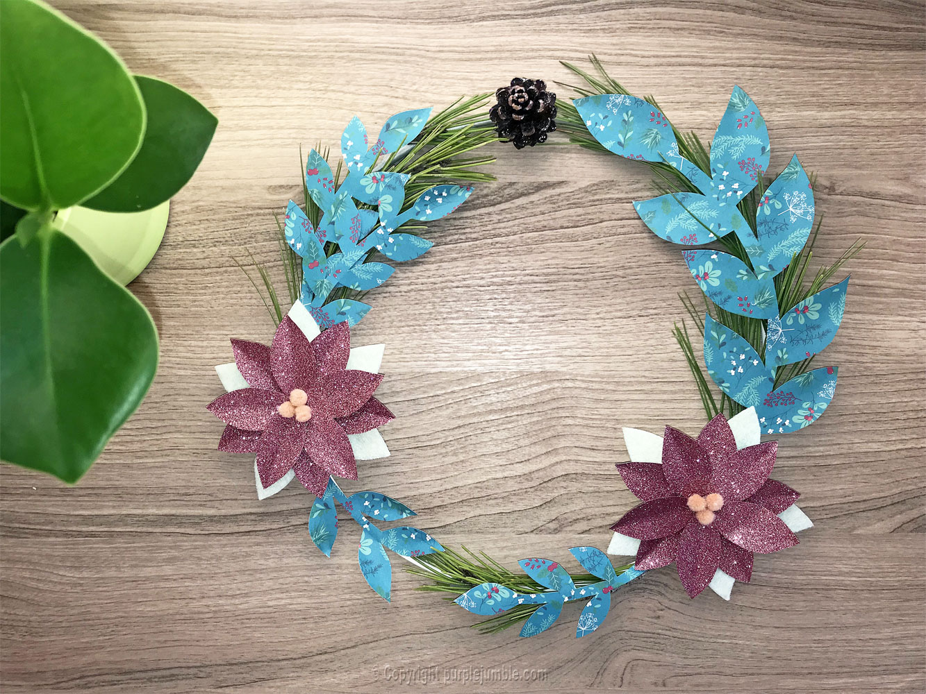 diy couronne de noel girly finie