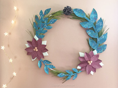 diy couronne de noel girly déco