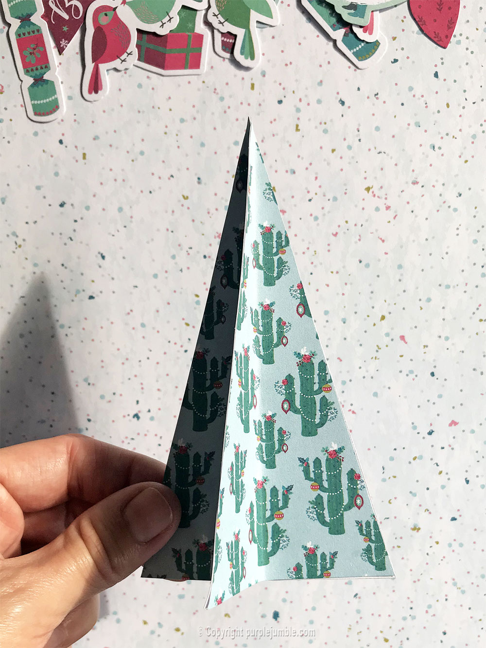 diy décor Noël papier collage