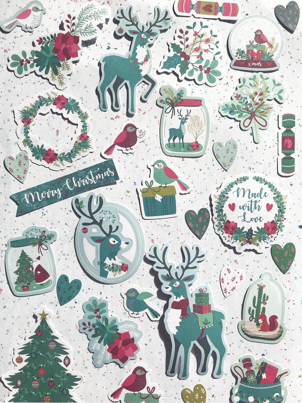 diy décor Noël papier dies cut