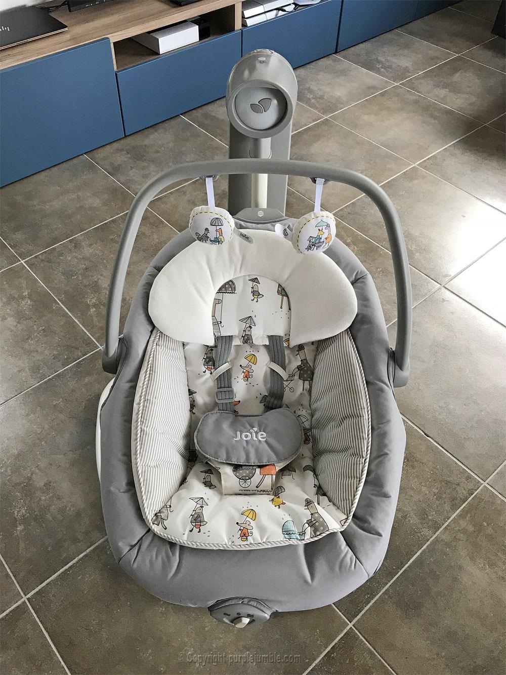 balancelle bébé serina 2 en 1 joie face