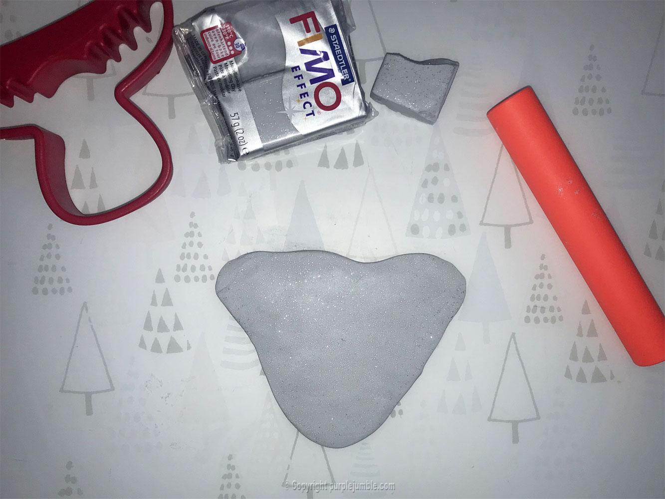 diy broche renne de Noël fimo