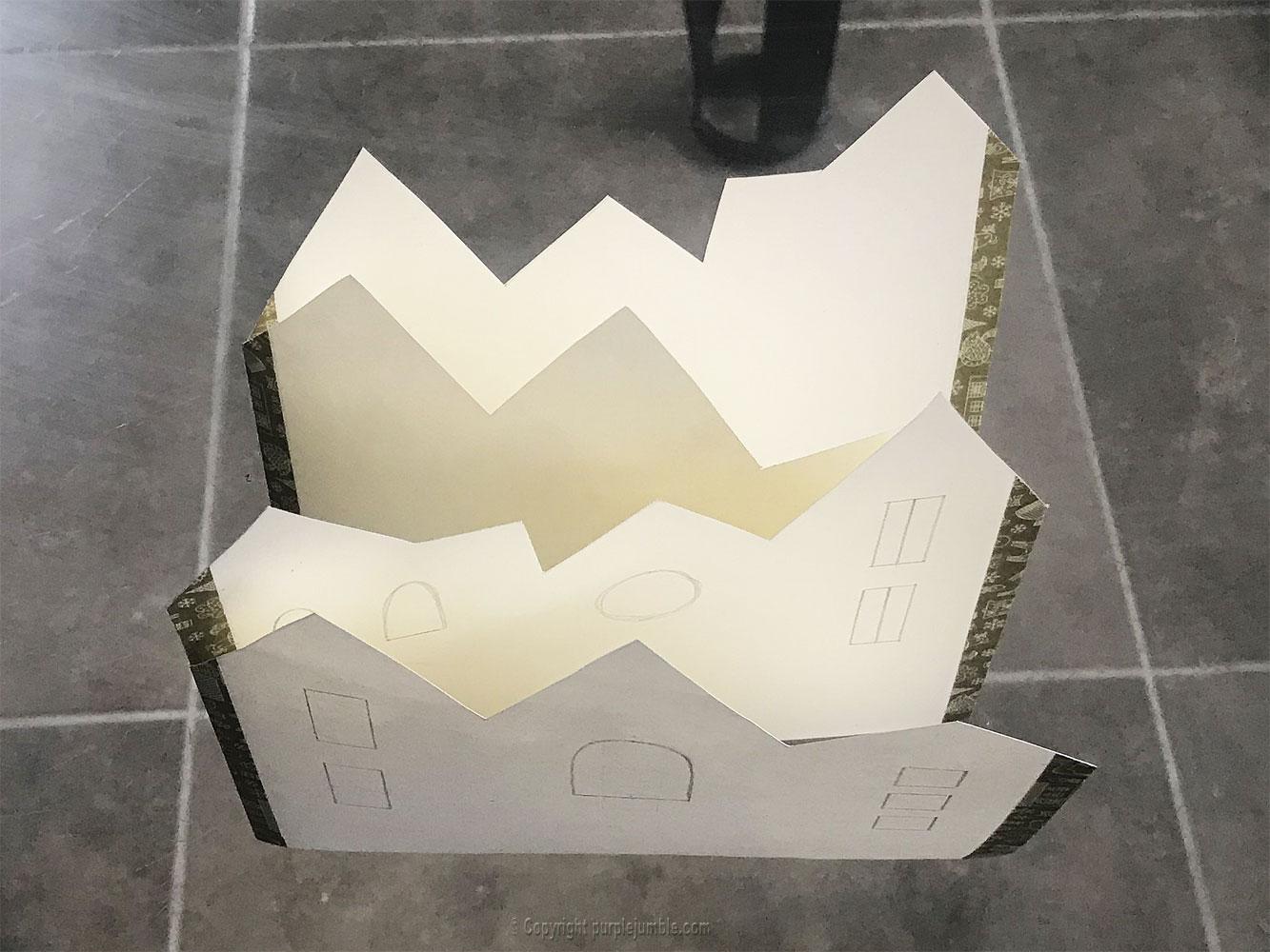diy carte de vœux 2019 toits