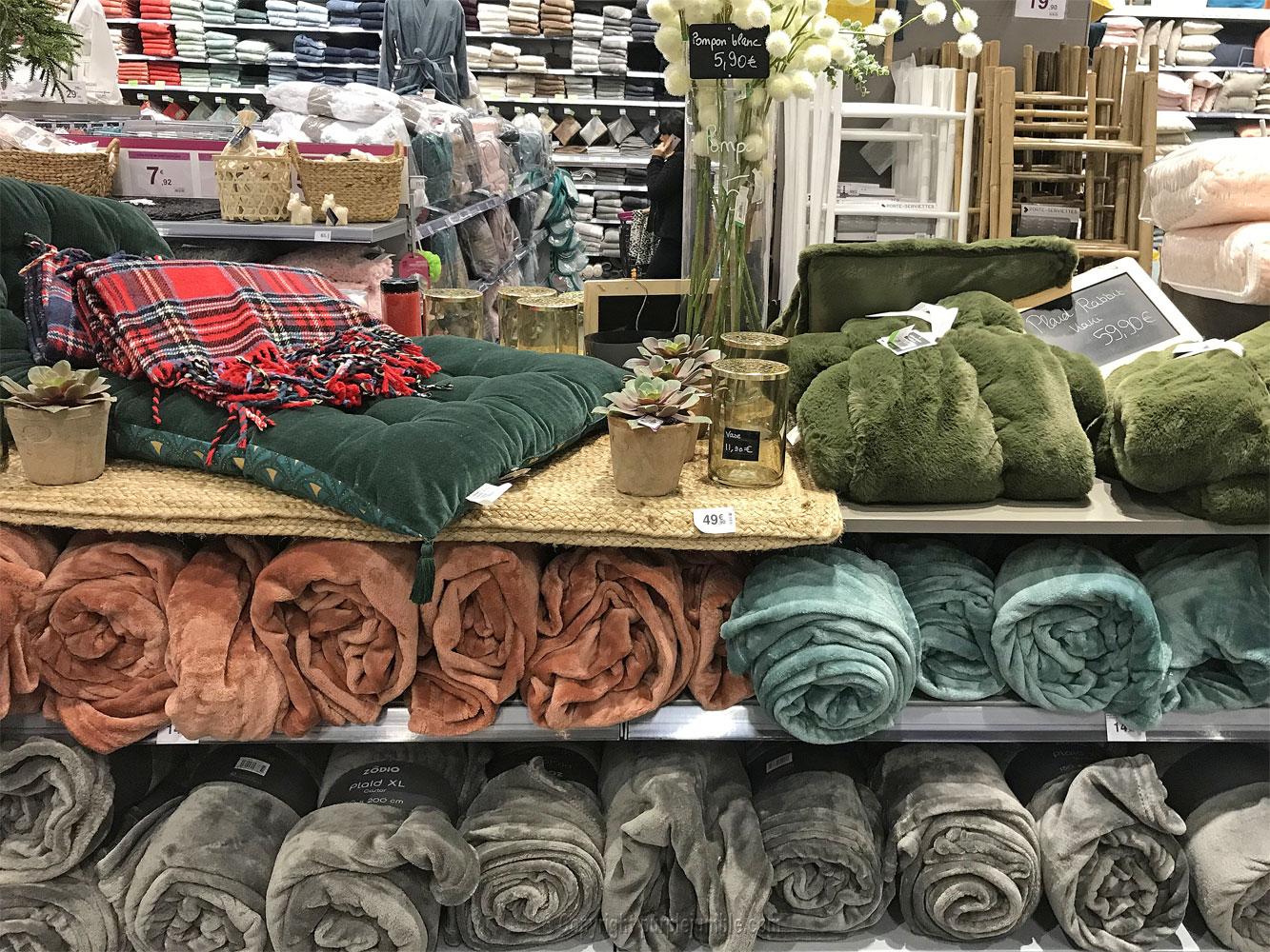zodio noel 2018 deco maison couvertures
