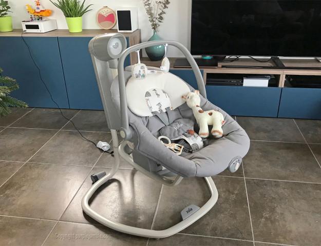 balancelle bébé serina 2 en 1 joie côté présentation