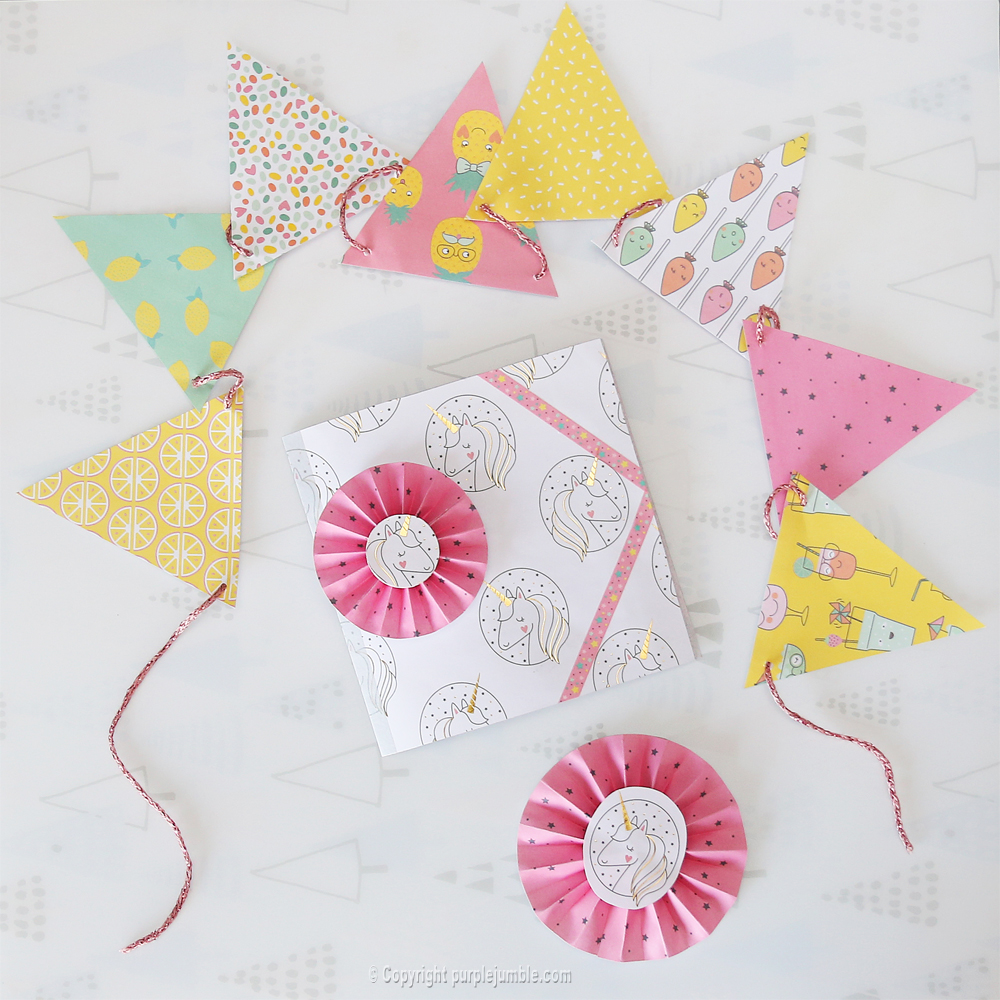 diy carte de vœux kawaii licorne cadeaux