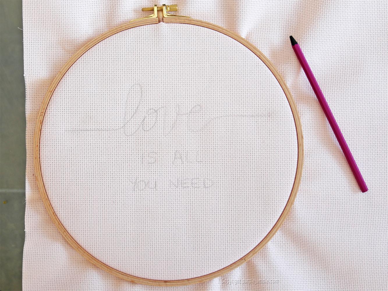 diy cadre punch needle love crayon