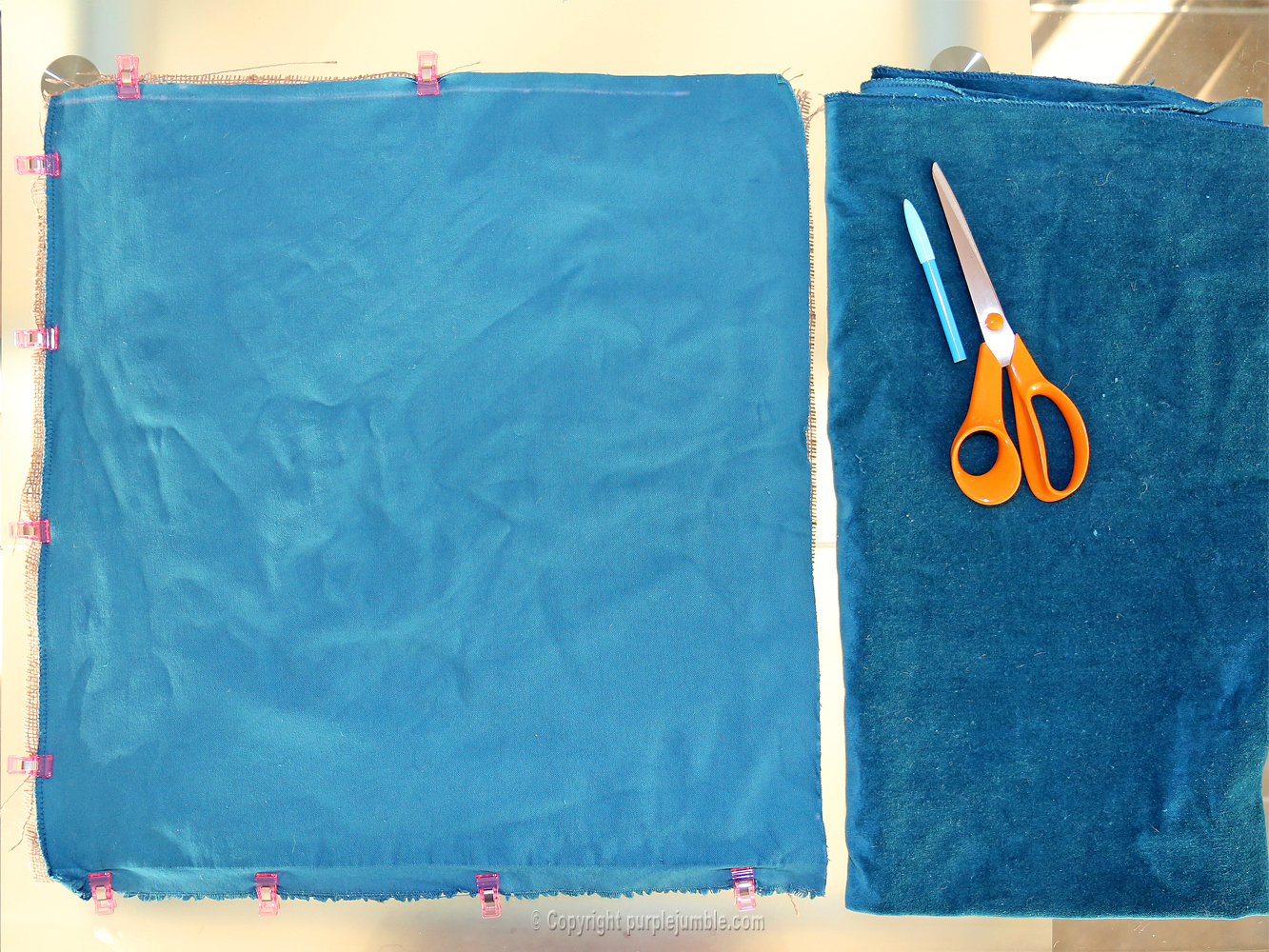 diy coussin punch needle velours