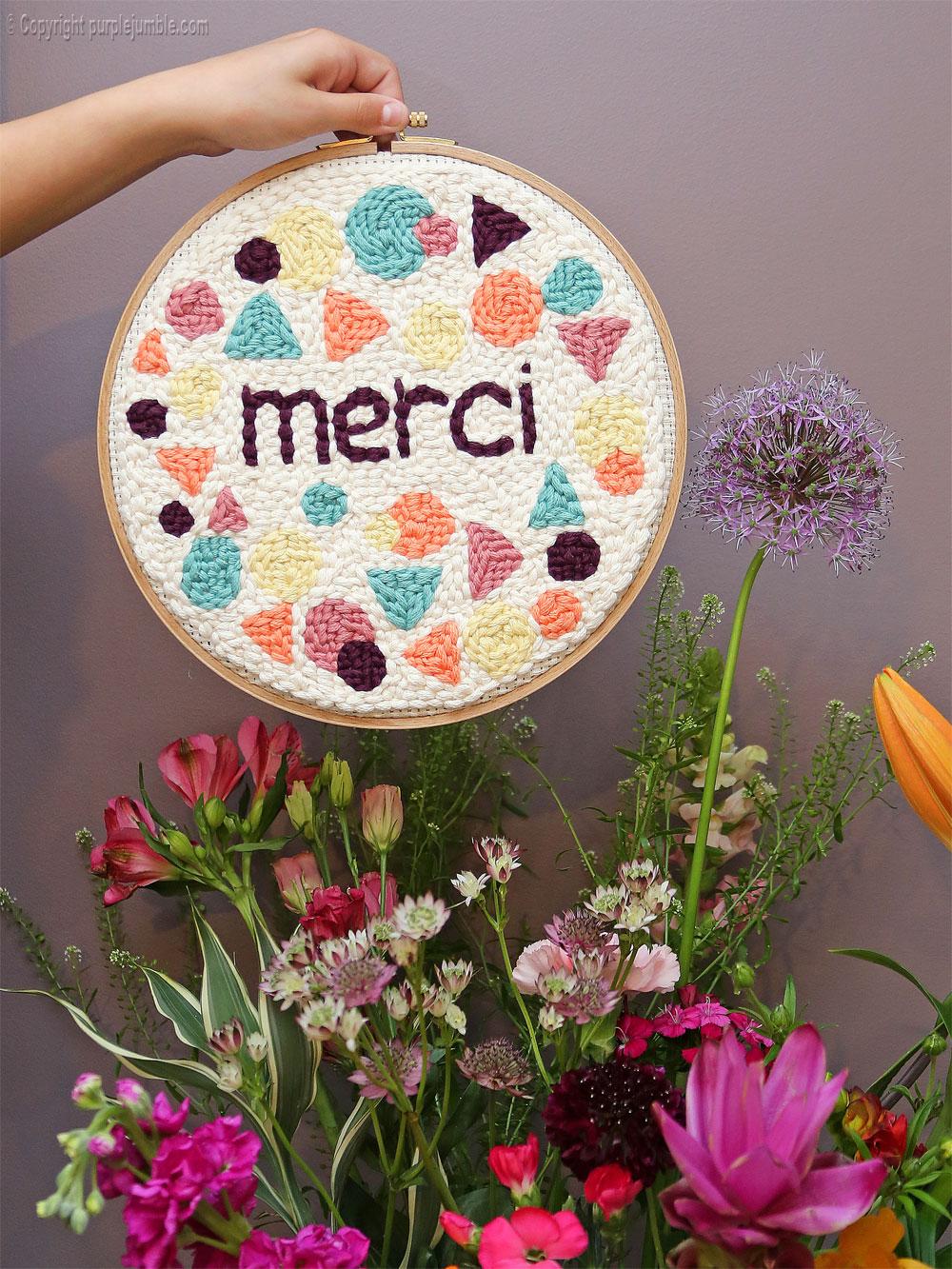 diy cadre punch needle merci fleurs