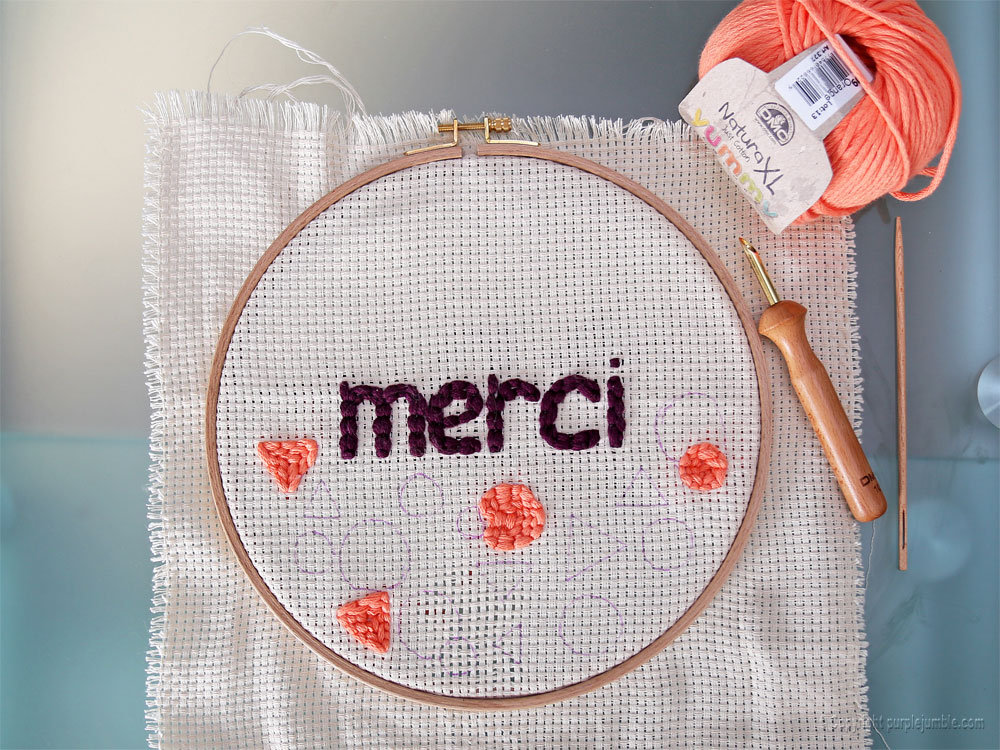 diy cadre punch needle merci formes