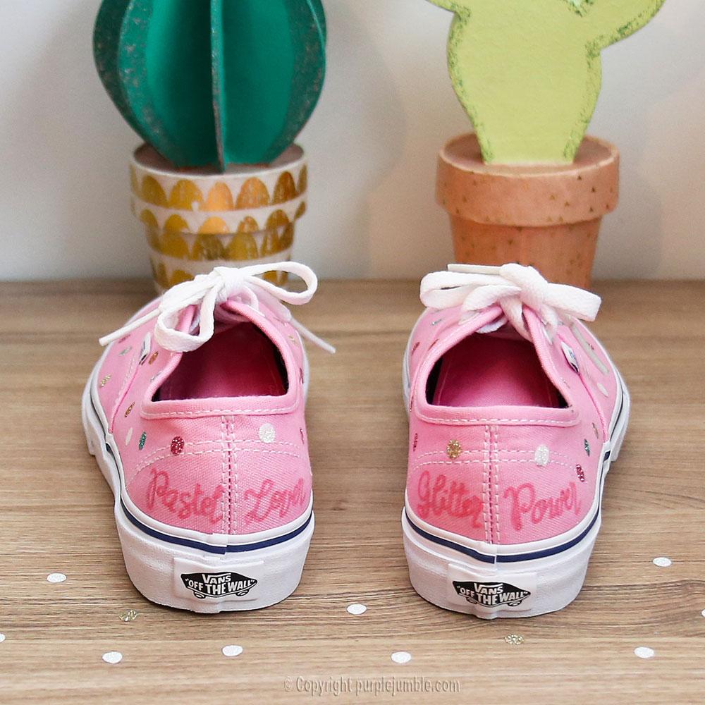 diy customisation chaussures feutre