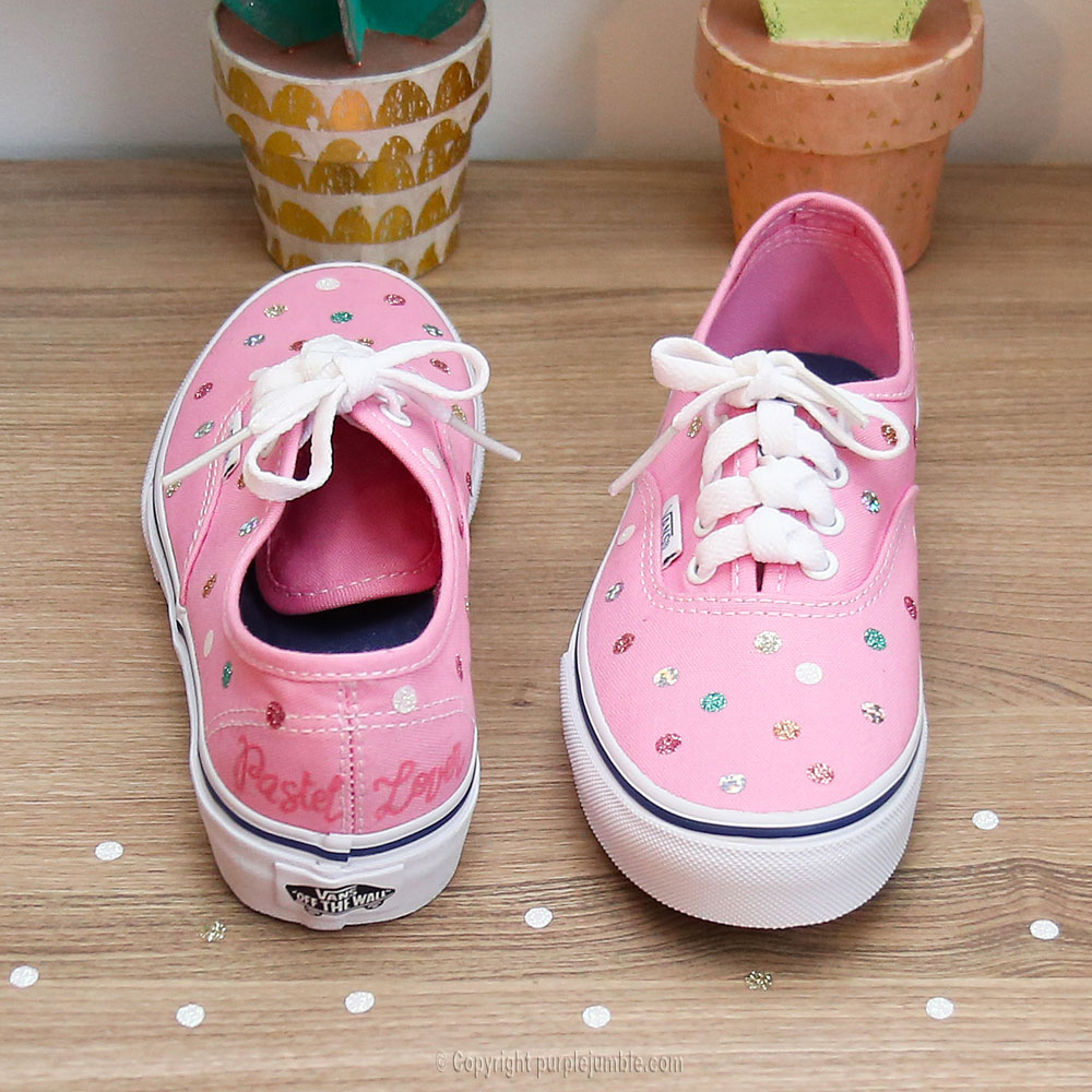diy customisation chaussures girly