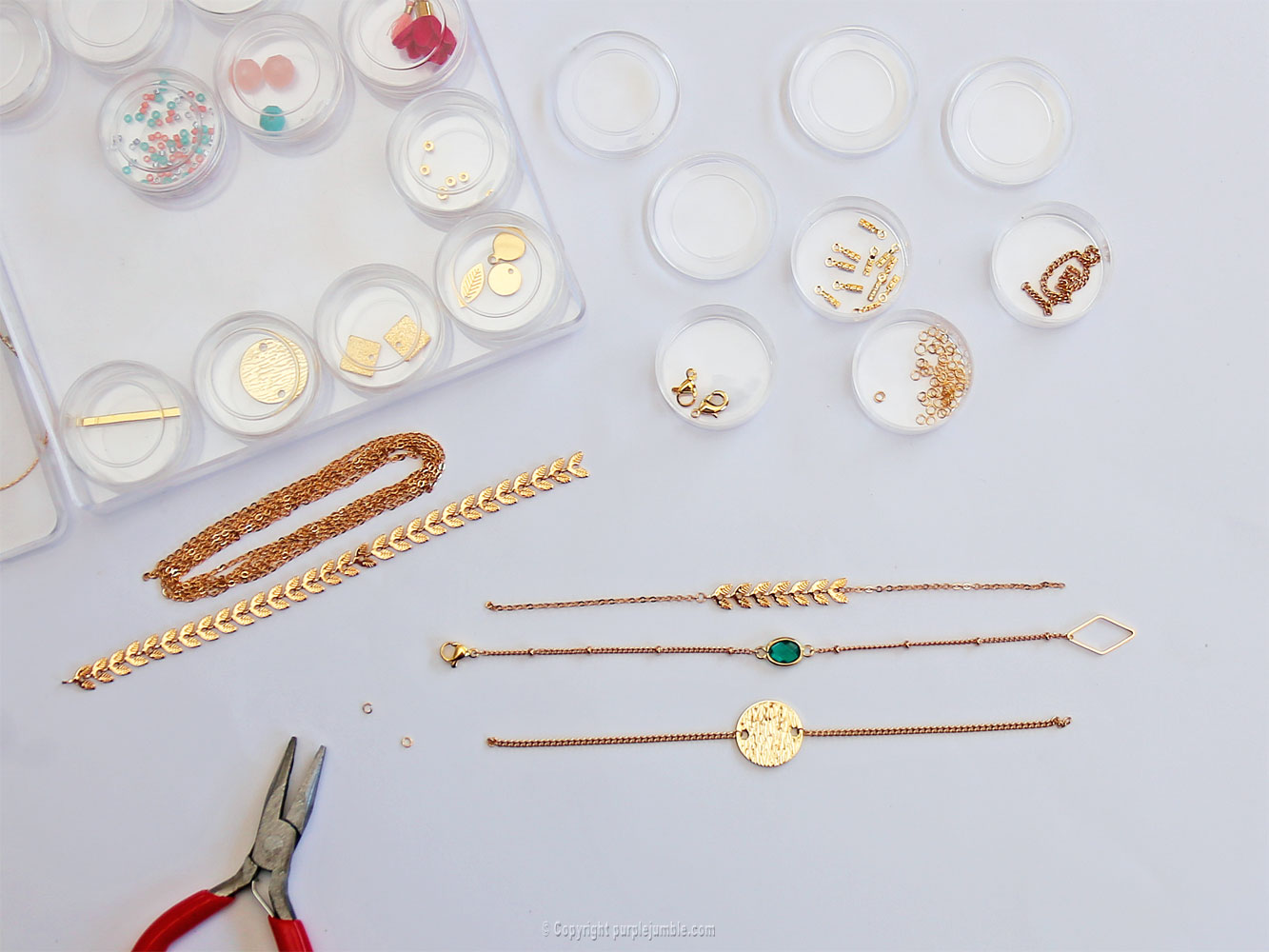 diy bijoux plaqués or multirangs