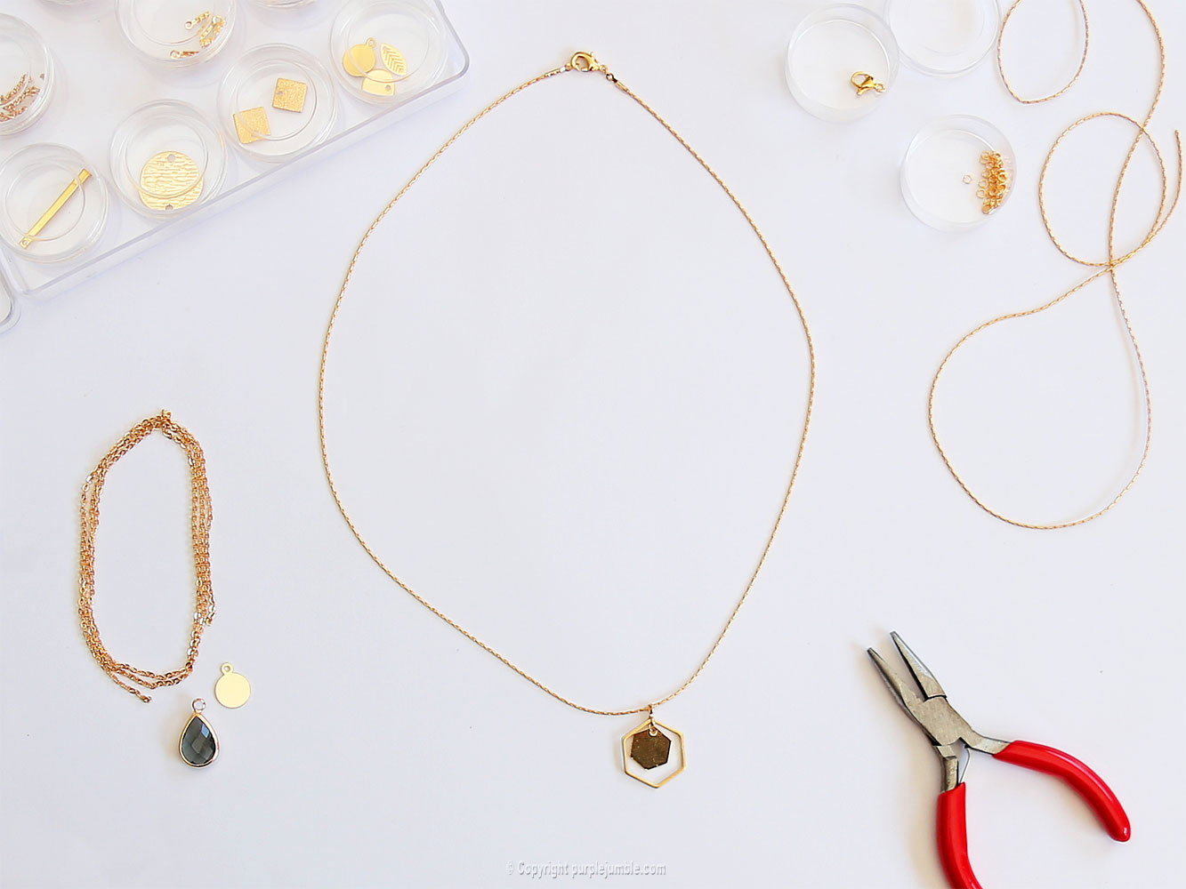 diy bijoux plaqués or breloque
