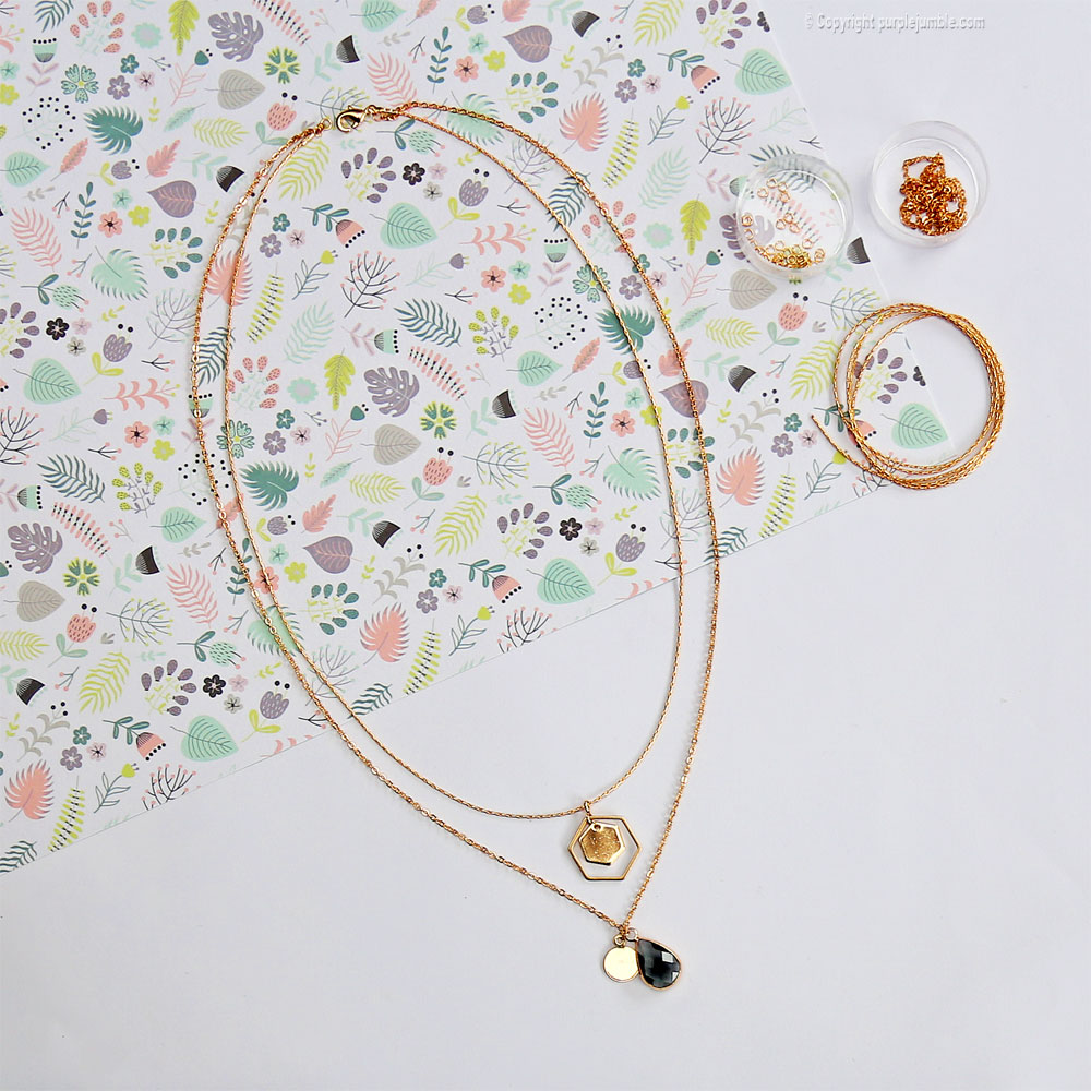 diy bijoux plaqués or collier