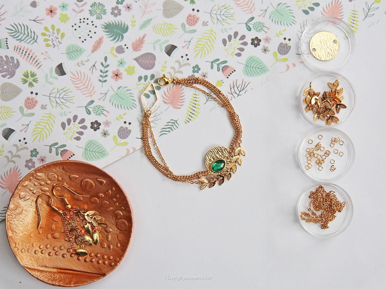 diy bijoux plaqués or bracelet