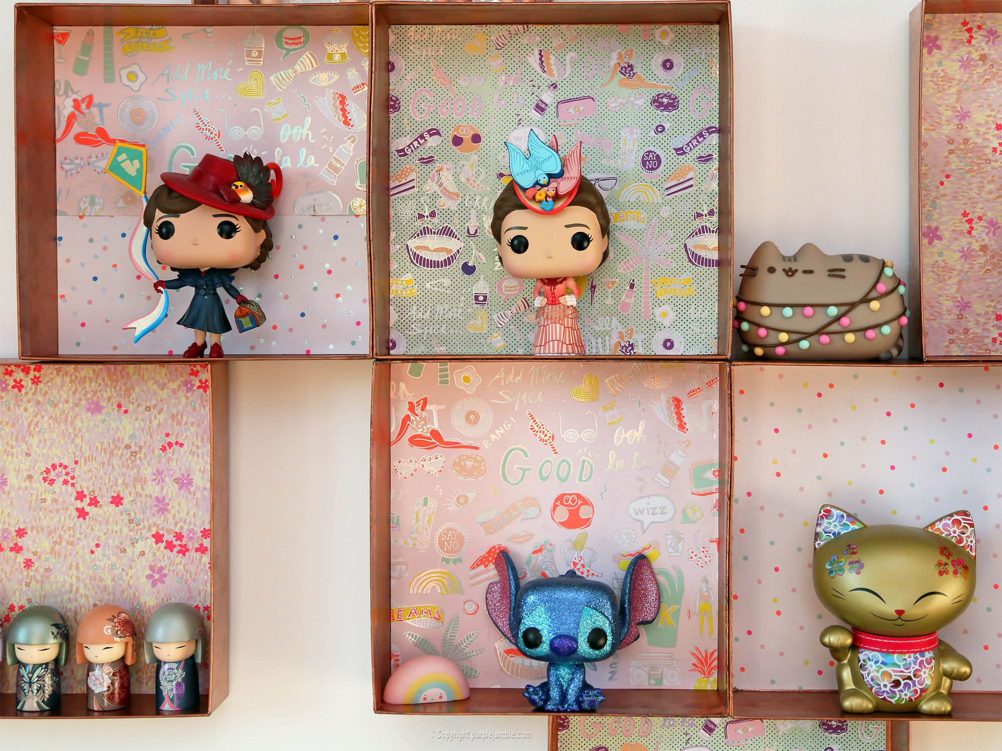 diy étagère murale recup figurines