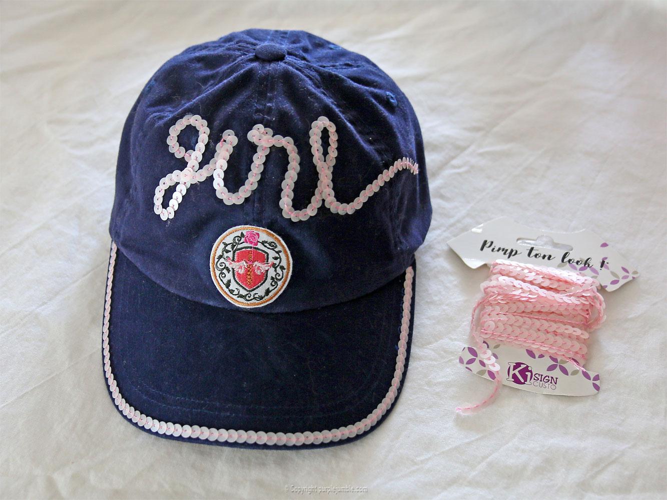 diy casquette customisée sequins patch