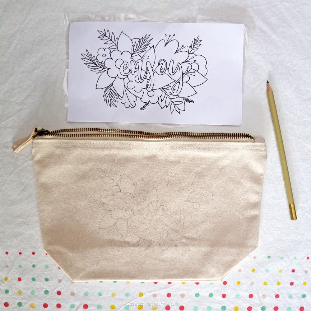 diy pochette feutres textile motifs