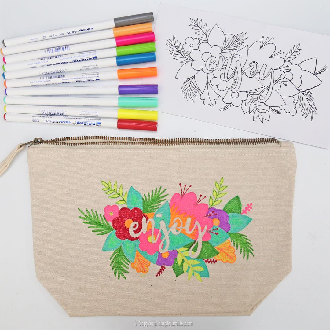 diy pochette feutres textile box