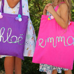 diy tote bag customisés sequins pompons