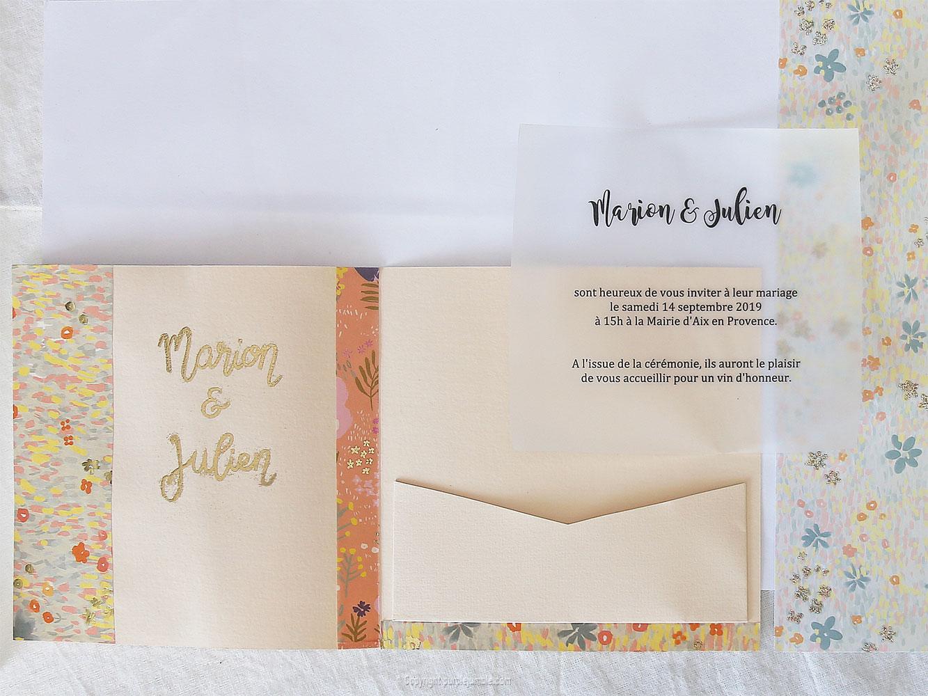 diy faire-part mariage message