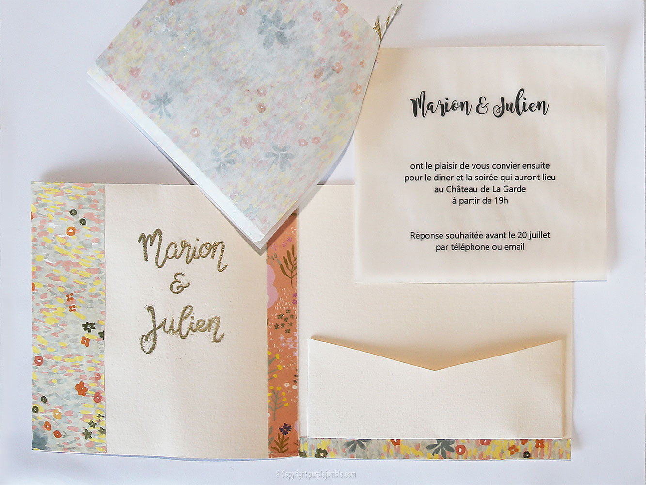 diy faire-part mariage invitation