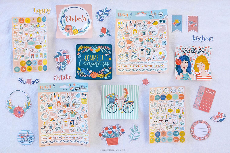 toga gamme oh la la stickers