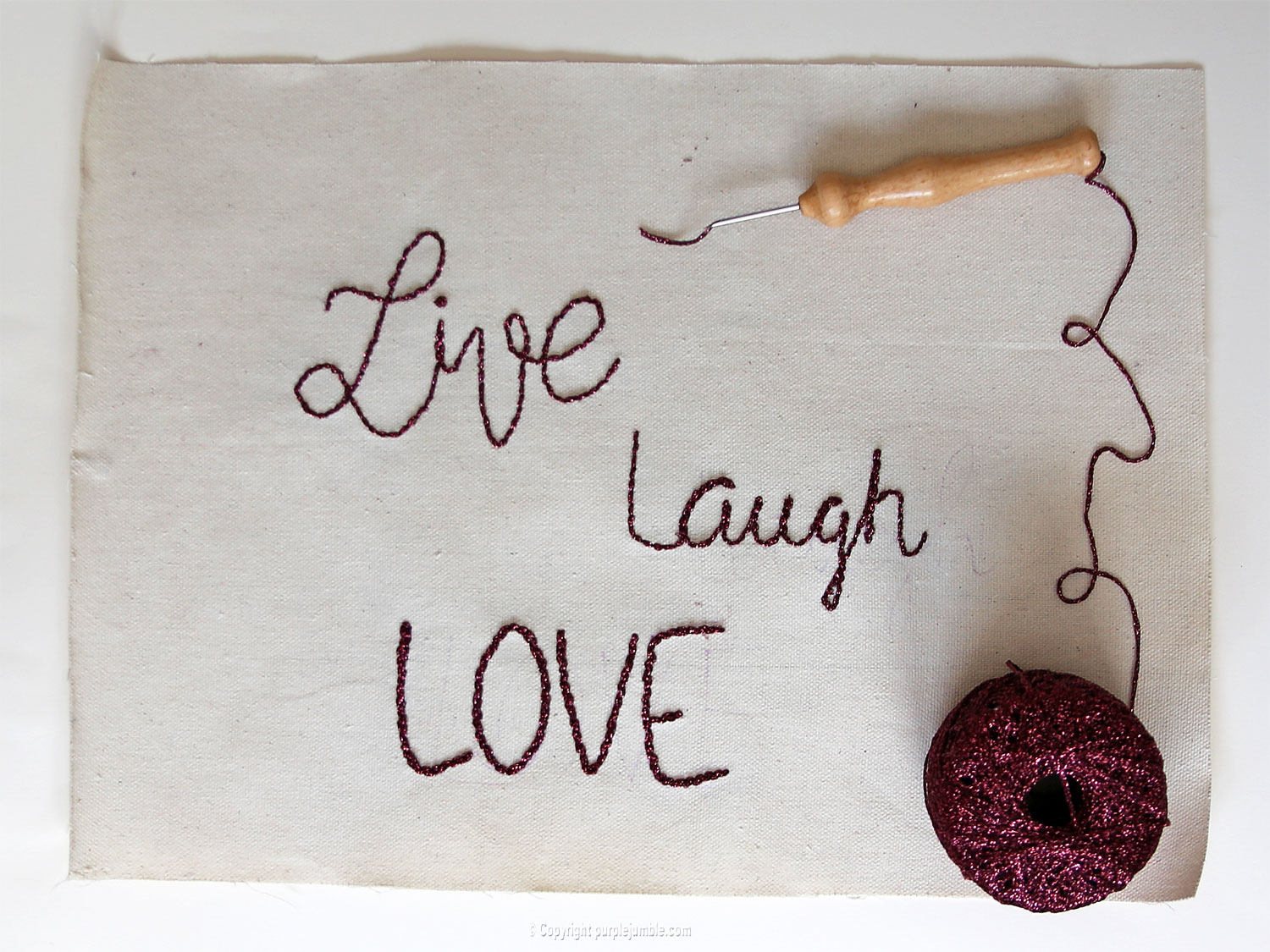 diy deco murale punch needle handlettering