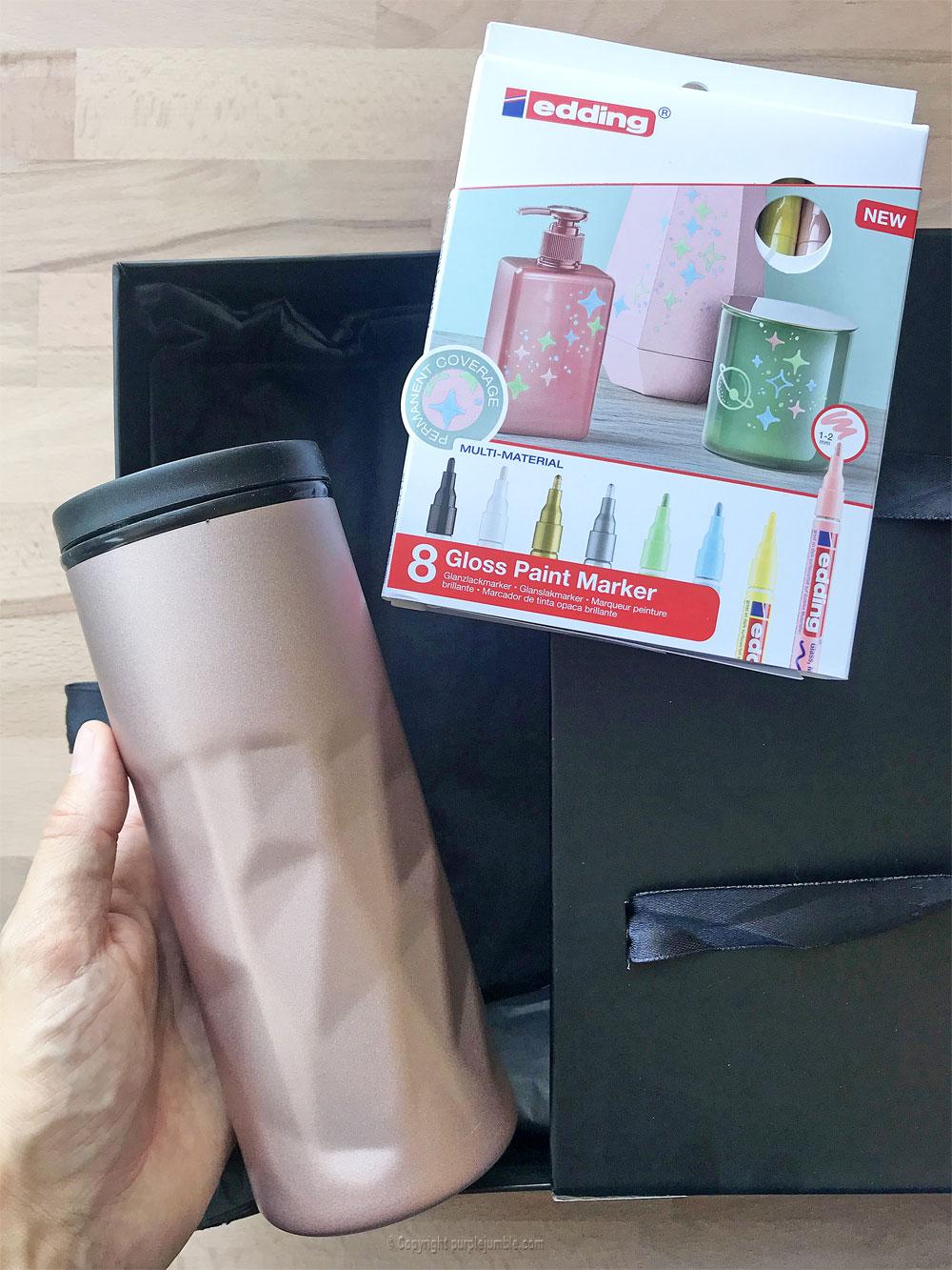 diy mug customisé marqueurs edding matériel