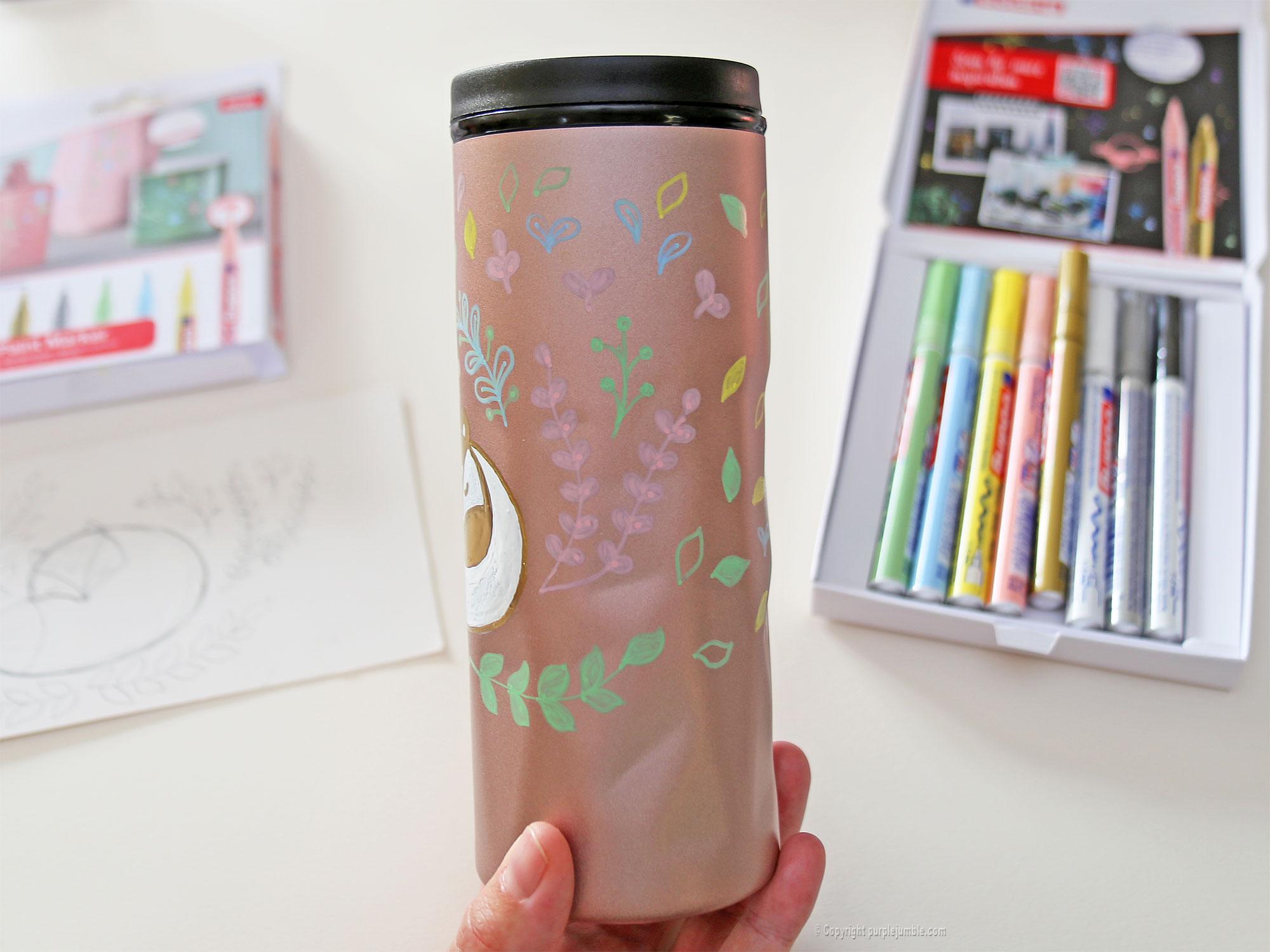 diy mug customisé marqueurs edding motifs