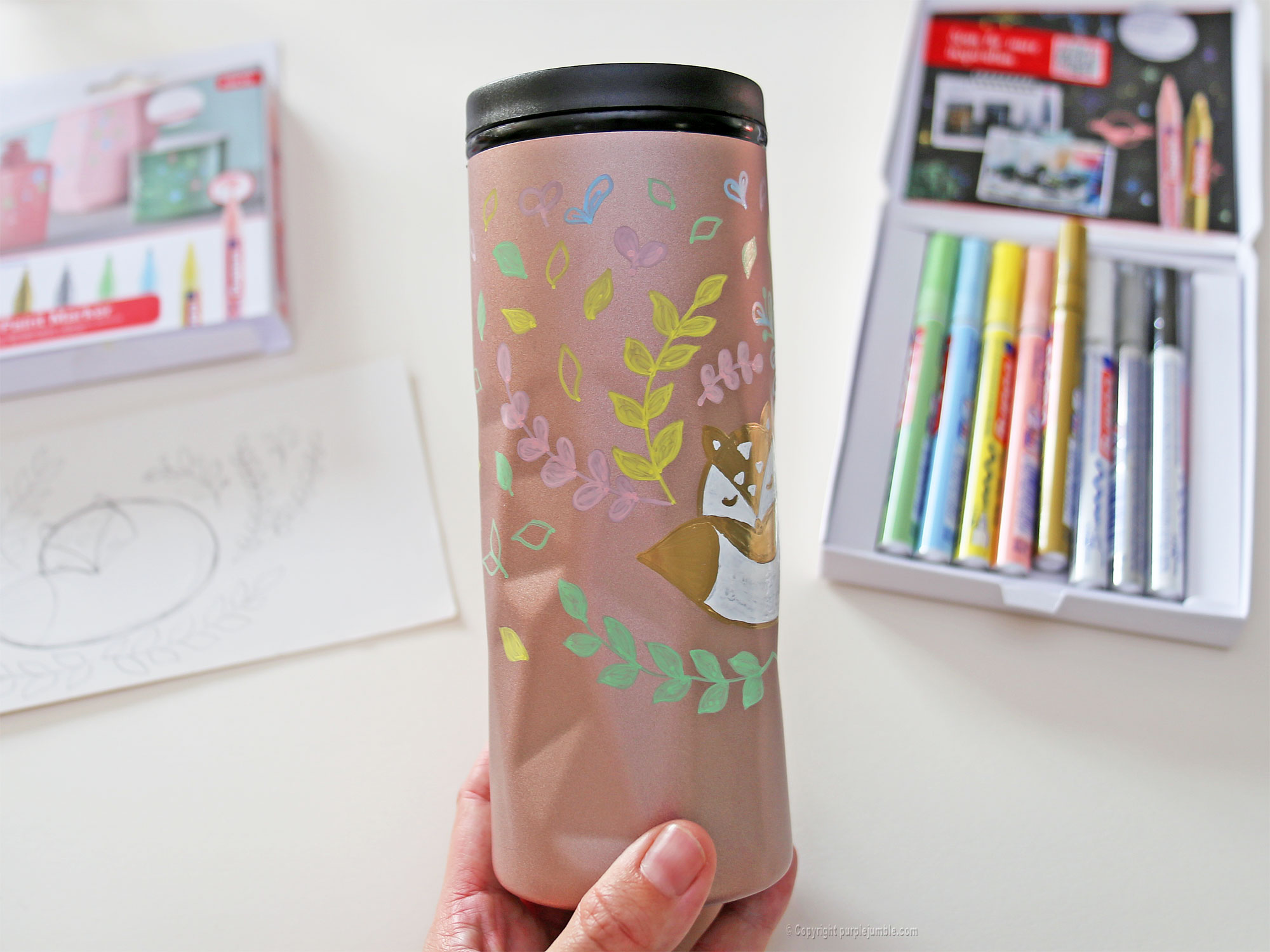 diy mug customisé marqueurs edding décor