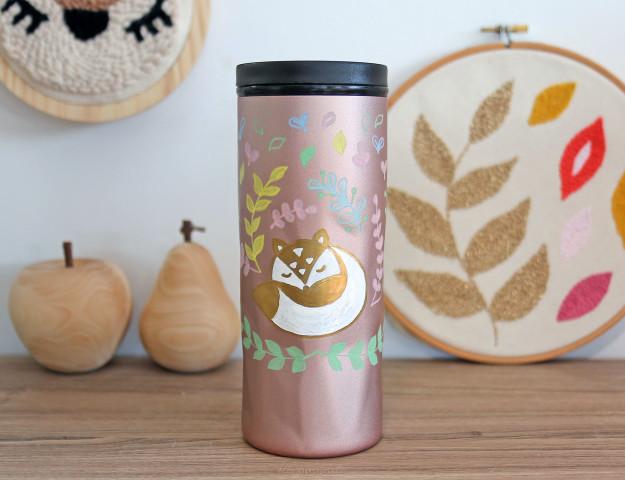 diy mug customisé marqueurs edding automne