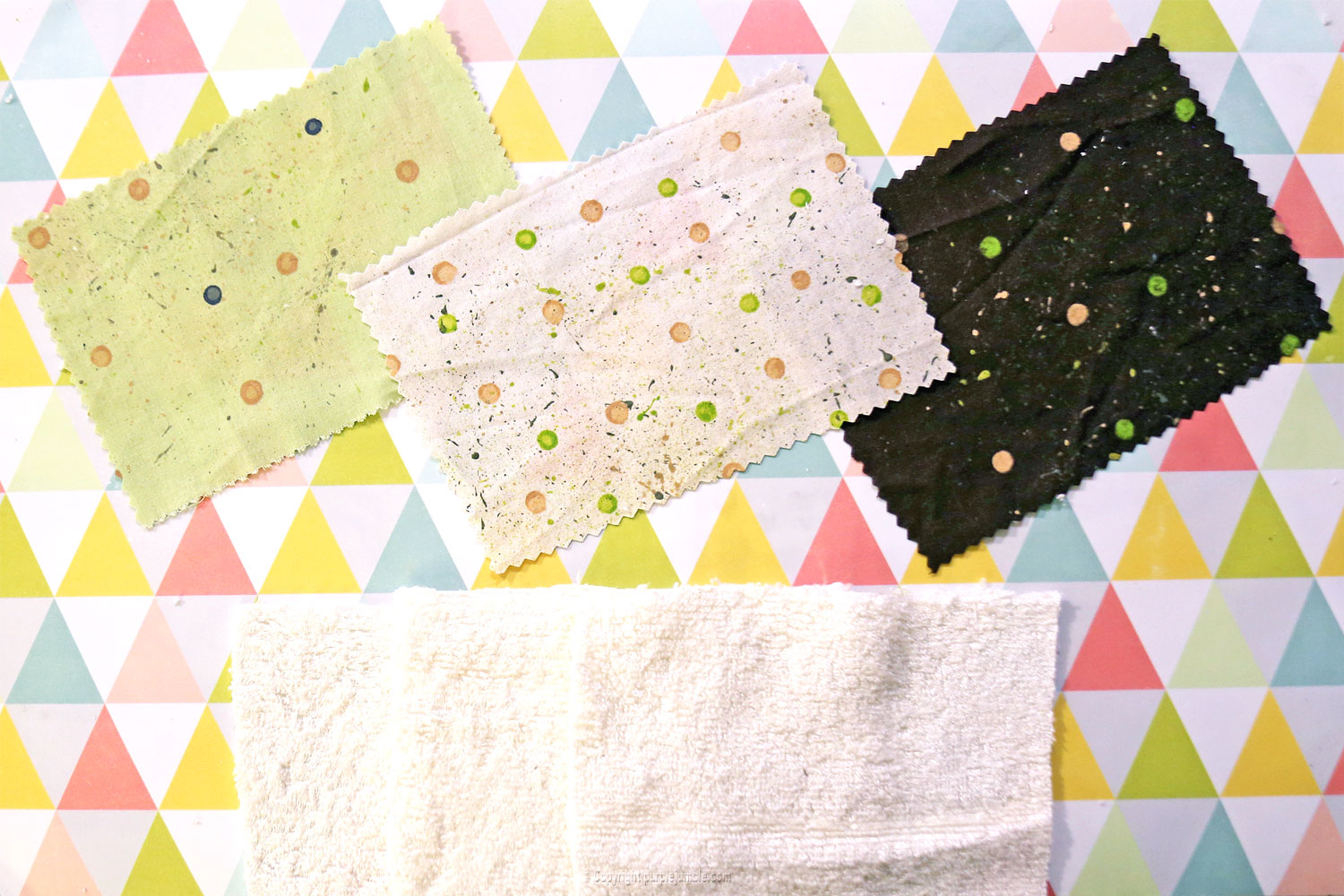 diy lingettes nettoyantes camif rectangles